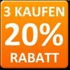 3x kaufen = 20% Rabatt